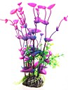 Akvarium Akvariedekorationer Fiskskål Blomma Konstgjorda växter Plast