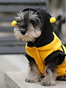 Katt Hund Dräkter / Kostymer Huvtröjor Hundkläder Gul Kostym Bulldogg Shiba Inu Cocker Spaniel Cotton Djur Cosplay XXS XS S M L XL