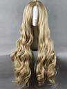 Syntetiska peruker Kostymperuker Rak Rak Peruk Blond Lång Väldigt länge Blekt Blont Syntetiskt hår Dam Mittbena Blond