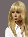 elegant mode raka människohår peruker för kvinna