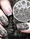 1 pcs Stämpelplatta Mall Moderiktig design nagel konst manikyr Pedikyr Stilig / Mode Dagligen / stämpling Plate