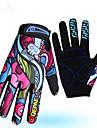 Vinter Cykelhandskar Bergscykling Andningsfunktion Anti-halk Svettavvisande Skyddande Helt finger Aktivitet/Sport Handskar Lycra Regnbåge för Vuxna Utomhus