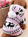 Katt Hund Huvtröjor Jumpsuits Pyjamas Vinter Hundkläder Brun Blå Rosa Kostym Polär Ull Ren Håller värmen Jul S M L XL XXL