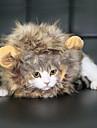 Katt Hund Dräkter / Kostymer Hundkläder Svart Brun Kamel Kostym Spädbarn Liten hund Pälsimitation Djur Cosplay Lejon En Storlek