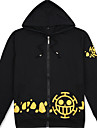 cosplay Suits Inspirerad av One Piece Trafalgar Law Animé Cosplay-tillbehör Skjorta Cotton Herr / Dam Halloweenkostymer