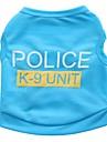 Katt Hund T-shirt Hundkläder Svart Blå Rosa Kostym Terylen Polis / Militär Ledigt / vardag XS S M L