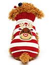 Katt Hund Tröjor Vinter Hundkläder Svart Grön Röd Kostym Cotton Ren Jul XXS XS S M L XL