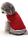 Katt Hund Tröjor Jul Vinter Hundkläder Röd Blå Kostym Cotton Färgblock Ledigt / vardag Håller värmen XS S M L XL XXL