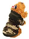 Katt Hund Kappor Huvtröjor Vinter Hundkläder Kamoflagefärg Leopard Kostym Cotton Kamouflage Håller värmen Mode XS S M L XL