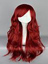 Syntetiska peruker Kostymperuker Vågigt Vågigt Peruk Röd Syntetiskt hår Dam Röd hairjoy