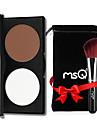 2 färger Puder Highlighters och bronzers Överstrykningspennor Torr / Matt / Kombination Concealer Ansikte Kina Smink Kosmetisk