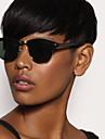 Mänskligt hår Peruk Korta Naturligt vågigt Pixie-frisyr Korta frisyrer 2019 Med lugg Berry Naturligt vågigt Kort Sidodel Afro-amerikansk peruk Dam Svart Medium Rödbrun Medium Rödbrun / Blekt Blont