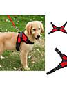 Hund Selar Justerbara / Infällbar Väst Enfärgad Nät Purpur Röd Blå