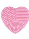 1 st Borstväska och rengöringsredskap Silikon Heart Shape