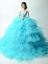 Dollklänning Bröllop För Barbie Lappverk Spets Organza Klänning För Flicka Dockleksak