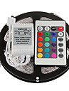 ZDM 5M 300 x 2835 8mm RGB LED Strips Light Flexible and IR 24Key Remote Control   Linkable  Self-adhesive  Color-Changing