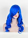Syntetiskt hår peruker Vågigt Cosplay Peruk Lång Blå