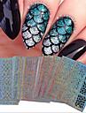 24 pcs Folieklistermärke Bärbar / Geometriskt mönster / Nail Decals Nail Art Tool