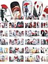 12Designs/Set Vattenövergångsklistermärke / Nail Sticker Vacker tjej / Landskap / Nail Decals Nail Art Design