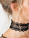 Women\'s Choker Necklace Statement Necklace Statement Ladies Tattoo Style Fashion Lace White Black Necklace Jewelry For Christmas Gifts Party Birthday Daily Casual / Tattoo Choker Necklace