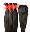 Ret Hårförlängning av äkta hår Brasilianskt hår 100+/-5 12-28 Människohår förlängningar