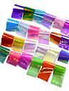 24pcs/set Klistermärken & Tejpar / Folieklistermärke / Nail Sticker Glitter / Mirror Effect / Nail Decals Nail Art Design