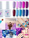 Nagellack UV-gel 15ml 1picec Glitters UV färggel Klassisk Långvarig soak-off Dagligen Glitters UV färggel Klassisk Hög kvalitet