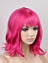 Syntetiska peruker Naturligt vågigt Kardashian Stil Utan lock Peruk Rosa Röd Syntetiskt hår Dam Rosa Peruk Korta