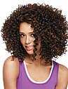 Syntetiska peruker Afro Afro Bob-frisyr Peruk Mellan Beige Syntetiskt hår Dam Brun