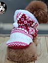 Katt Hund Kappor Huvtröjor Vinter Hundkläder Andningsfunktion Brun Röd Blå Kostym Cotton Snöflinga Håller värmen Mode XS S M L XL