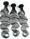 3 paket Eurasiskt hår Kroppsvågor Klassisk Äkta hår Human Hår vävar Hårförlängning av äkta hår Människohår förlängningar / 8A