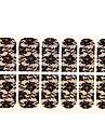 12 pcs Snörklistermärke / 3D Nail Stickers / Helnageltoppar Abstrakt / Mode Dagligen / ABS