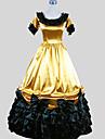 Victoriansk Medeltida kostymer Kostym Dam Klänningar Festklädsel Maskerad Vintage Cosplay Charmeuse Kortärmad Ankellång