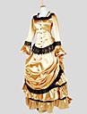 Hertiginna Victoriansk 1910s Edwardian Klänningar Dam Spets Kostym Vintage Cosplay Party Bal Långärmad Ankellång Asymmetrisk Balklänning Plusstorlekar Anpassad