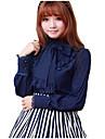 Flickor Sweet Lolita Blus / Skjorta Röd Blå Vit Spandex lolita tillbehör