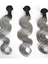 3 paket Brasilianskt hår Kroppsvågor Klassisk Äkta hår Human Hår vävar Nyans Hårförlängning av äkta hår Människohår förlängningar / 8A