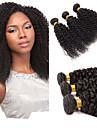 Malaysiskt hår Kinky Curly Curly Weave Äkta hår Human Hår vävar Hårförlängning av äkta hår Människohår förlängningar / 8A / Sexigt Lockigt