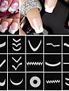 18 pcs Franska design tips nagel konst manikyr Pedikyr Mode Dagligen / Franska tipsguide