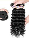 3 paket Brasilianskt hår Stora vågor Äkta hår Human Hår vävar Hårförlängning av äkta hår Människohår förlängningar