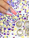 1set Paljetter nagel konst manikyr Pedikyr Dagligen Glitters / Neon & Bright / Mode