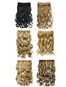 """20 """"syntetisk klämma i hårförlängningar 130g markera hårstycken värmevänliga fibrer multicolors"""