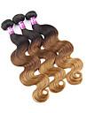 3 paket Peruanskt hår Kroppsvågor Nyans Hårförlängning av äkta hår Människohår förlängningar