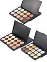 3 färger Makeup Set Pressat puder Concealer / Contour Fuktig / Kombination Fukt / Concealer / Naturlig Ansikte # Naturlig Smink Kosmetisk