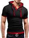 Per uomo maglietta Camicia Pop art Tinta unita Manica corta Quotidiano Top Attivo Colletto Vinaccia Rosso Blu / Estate