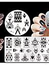 4 pcs Stamper & Scraper Stämpelsats Stämpelplatta Mall nagel konst manikyr Pedikyr Mode Dagligen / Silikon / Plast / stämpling Plate / Stål