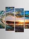 プリント キャンバス地プリント - 風景 静物画 クラシック 近代の 4枚 アートプリント