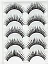 Ögonfrans Lösögonfransar 10 pcs Volym Naturlig Lockigt Fiber Hela ögonfransar Korsvis Naturligt långa - Smink Vardagsmakeup Festmakeup Kosmetisk Skötselprodukter