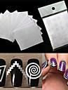 12 pcs Diecut Manicure Stencil nagel konst manikyr Pedikyr Mode Dagligen