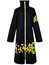 Inspirerad av One Piece Trafalgar Law Animé Cosplay-kostymer Japanska cosplay Suits Vintage Långärmad Kappa Till Herr / Dam