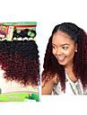 8 paket Brasilianskt hår Kinky Curly Stora vågor Obehandlad hår Nyans 8-14 tum Nyans Hårförlängning av äkta hår Människohår förlängningar / 10A